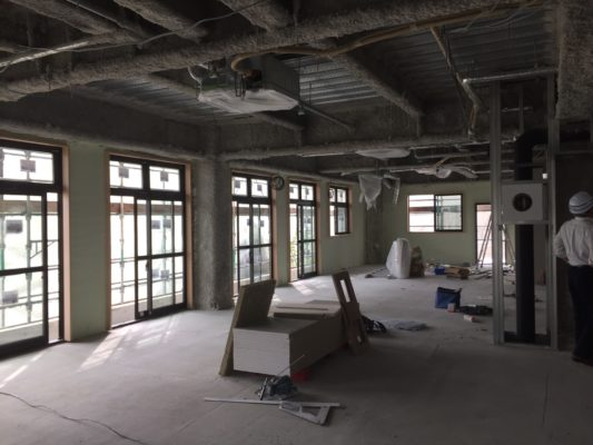 FSH(ふくいサンホーム):工事の進捗状況17-09-05